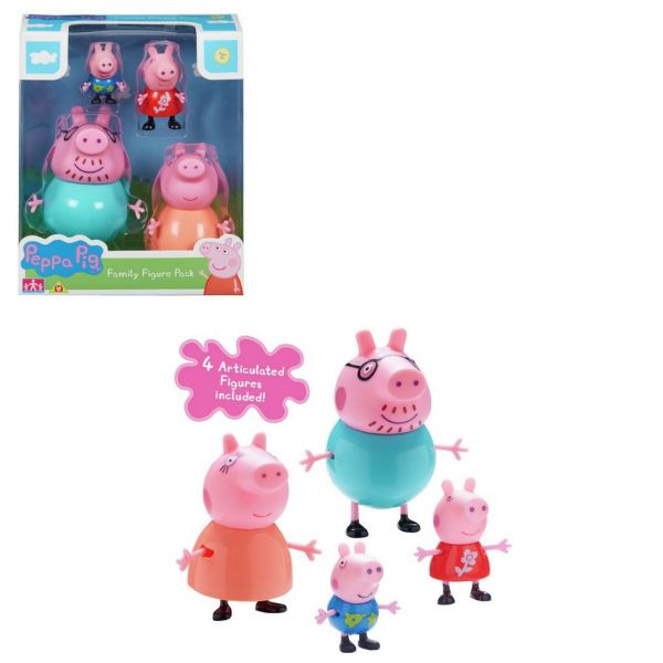 Peppa Pig Family Figure Set 4 Toy Figures Peppa George Daddy & Mummy Pig